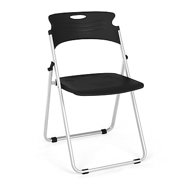 OFM™ Flexure Plastic Folding Chair, Black