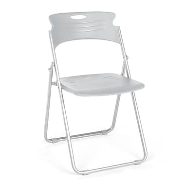 OFM™ Flexure Plastic Folding Chair, Dove Gray