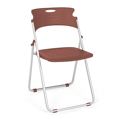 OFM™ Flexure Plastic Folding Chair, Chocolate