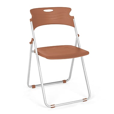 OFM™ Flexure Plastic Folding Chair, Caramel