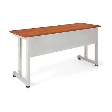 OFM™ 20in. x 55in. Steel Modular Training/Utility Table, Cherry/Silver