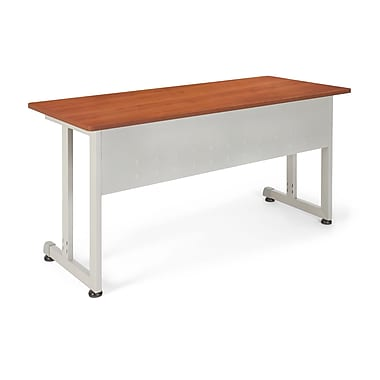 OFM™ 24in. x 55in. Steel Modular Training/Utility Table, Cherry/Silver