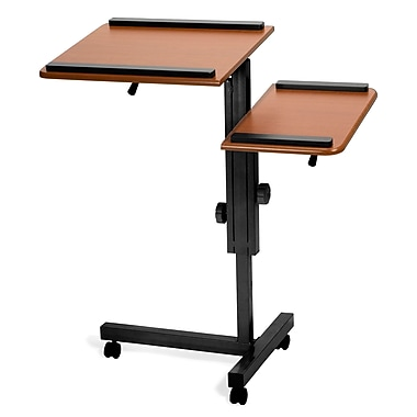 OFM™ 38in.(H) x 31 1/2in.(W) x 18in.(D) MDF Multi-Purpose Laptop Stand, Cherry/Black