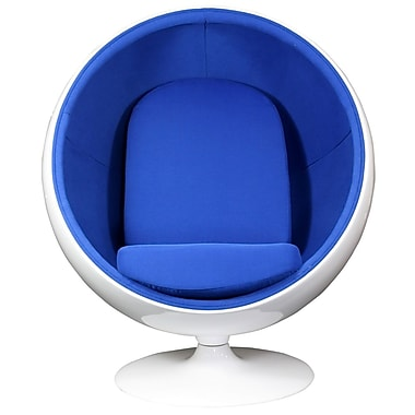Modway Kaddur Fabric Lounge Chair, White/Blue