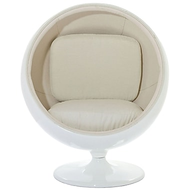 Modway Kaddur Polycotton Kids Chair, White