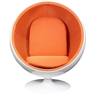 Modway Kaddur Fabric Lounge Chair, White/Orange