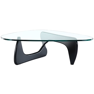Modway Triangle Glass Coffee Table, Black