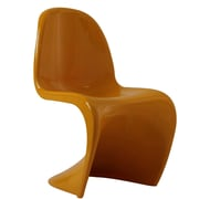 """Modway Slither 33""""H ABS Plastic Dining Side Chair, Yellow"""