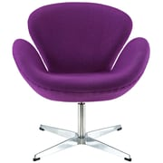 Modway Wing Padded Fabric Lounge Chair, Purple