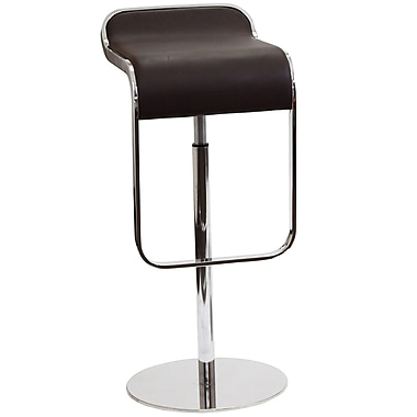 Modway LEM Leather Bar Stool, Brown