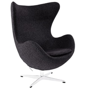 Modway Glove Wool Lounge Chair, Dark Gray