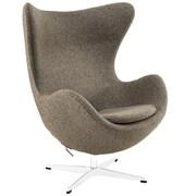 Modway Glove Wool Lounge Chair, Oatmeal