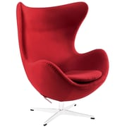 Modway Glove Wool Lounge Chair, Red