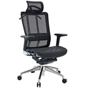 Modway Future Fabric High Back Executive Office Chair With Headrest, Black Frame