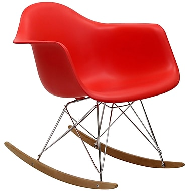 Modway Rocker Lounge Chair, Red (EEI-147-RED)