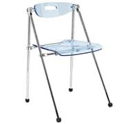 Modway Telescope Acrylic Folding Chair, Light Blue