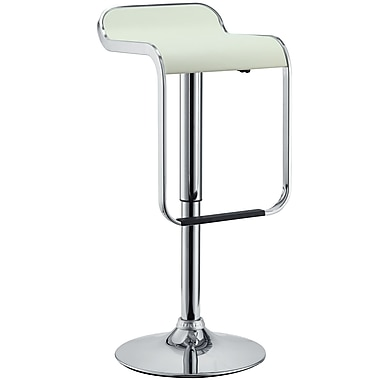Modway LEM Vinyl Bar Stool, White