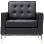 Modway Florence Style Loft Leather Armchair, Black