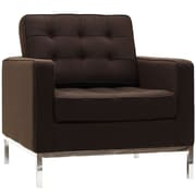 Modway Florence Style Loft Wool Armchair, Chocolate Brown