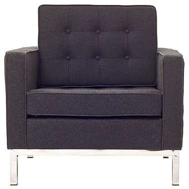 Modway Florence Style Loft Wool Armchair, Dark Gray