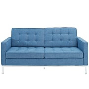Modway Loft Wool Loveseat, Blue Tweed