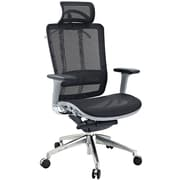 Modway Future Fabric High Back Executive Office Chair With Headrest, Gray Frame/Black Mesh