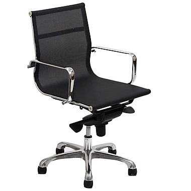 Modway Slider Mesh Mid Back Office Chair, Black