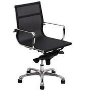Modway Slider Mesh Mid Back Office Chair, Black