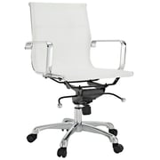 Modway Slider Mesh Mid Back Office Chair, White