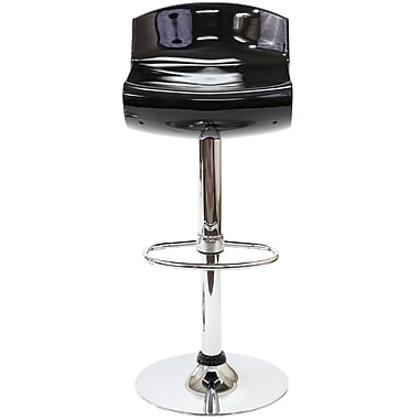 Modway Dazzle ABS Plastic Bar Stool, Black
