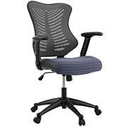 Modway Mid-Back Mesh Office Chair, Adjustable Arm, Gray