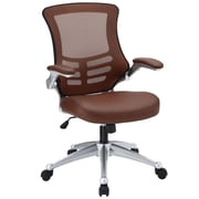 Modway Attainment Padded Leatherette Mid Back Office Chair, Tan