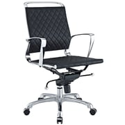 Modway Vibe Leather Executive Office Chair, Fixed Arms, Black (848387005535)