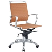 Modway Leather Vibe Mid Back Modern Office Chair, Tan