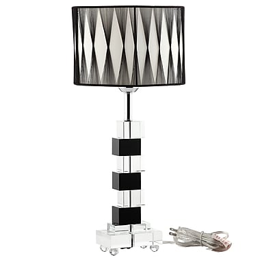 Modway Percussion Table Lamp, Black/White
