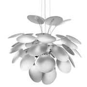 "Modway Bloom 25"" Pendant Light, Silver"