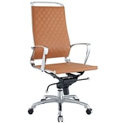 Modway EEI-232-TAN Vibe Leather High-Back Executive Chair with Fixed Arms, Tan