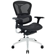 Modway Mid-Back Mesh Executive Office Chair, Adjustable Arm, Black
