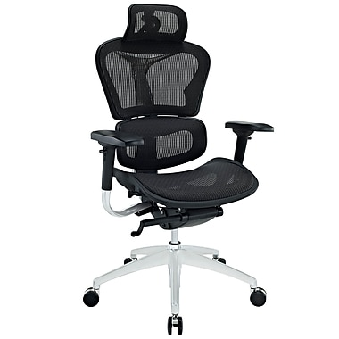 Modway Lift Mesh High Back Ergonomic Executive Office Chair With Headrest, Black