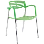 Modway Fleet Hard Plastic Stacking Chair, Green