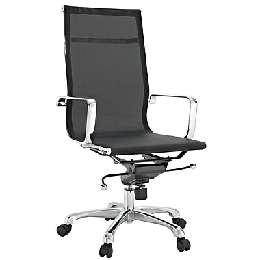 Modway Slider Mesh High Back Office Chair, Black