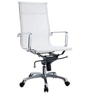 Modway Slider Mesh High Back Office Chair, White
