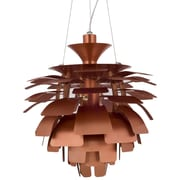 "Modway Petal 19"" Chandelier Light, Copper"