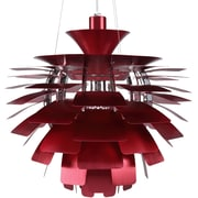 "Modway Petal 24"" Chandelier Light, Red"