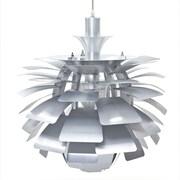 """Modway Petal 24"""" Chandelier Light, Silver"""