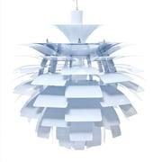 "Modway Petal 24"" Chandelier Light, White"