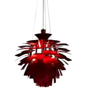 "Modway Petal 28"" Chandelier Light, Red"