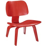Modway Fathom Plywood Lounge Chair, Red