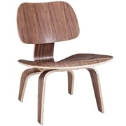 Modway Fathom Plywood Lounge Chair, Walnut
