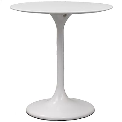 """""Modway Lippa 28"""""""" Fiberglass Dining Table, White"""""" 512980"